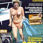 El topless de Mercedes Milá en Interviú