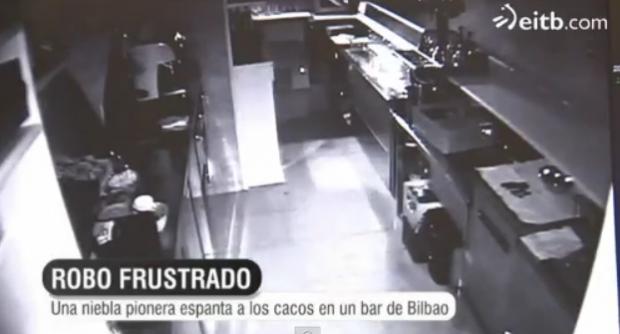 La niebla espanta a los ladrones de un bar de Bilbao