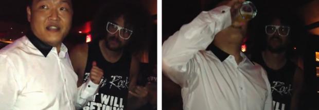 PSY y Redfoo de LMFAO se reúnen en el club Tao de Las Vegas