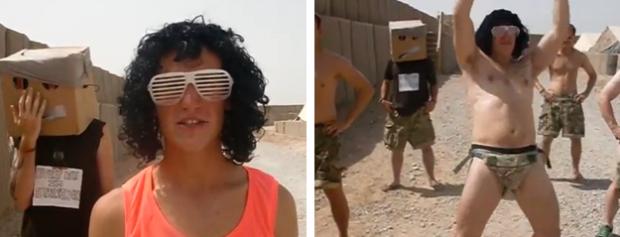 Un grupo de soldados británicos imita al grupo LMFAO en Afganistán