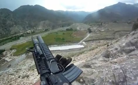 Un soldado norteamericano graba en primera persona un tiroteo en Afganistán