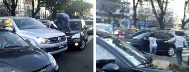 Conductor fuera de control en la Av. 9 de julio de Buenos Aires