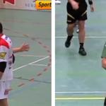 El jugador Pasquale Maione le da un beso en la mejilla a Iván Stuffer y este pierde los papeles