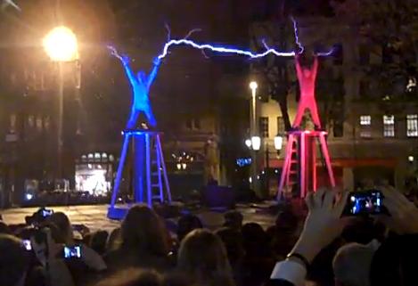 Lucha de electricidad en el Festival de Belfast