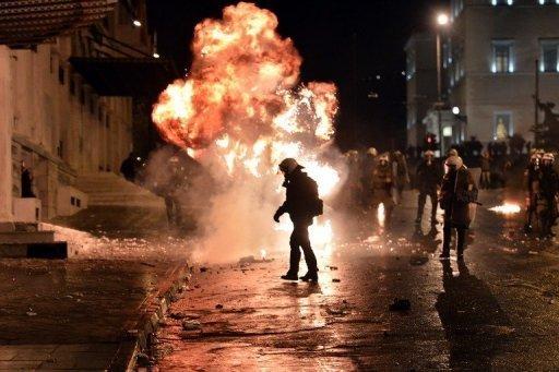 Cócteles molotov en Atenas