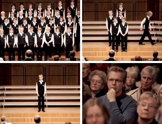 El coro infantil que dejó helado al público