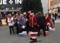 El espíritu de la Navidad llegó demasiado pronto a Basingstoke, Inglaterra y eso molestó mucho a un hombre