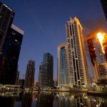 Incendio en la Torre Tamweel de Dubai