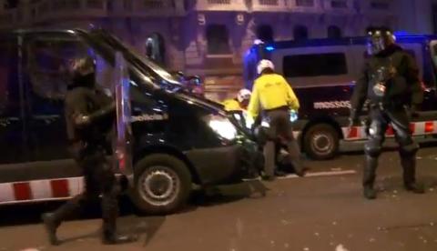 #14N: Un Mosso atropellado por un furgón antidisturbios