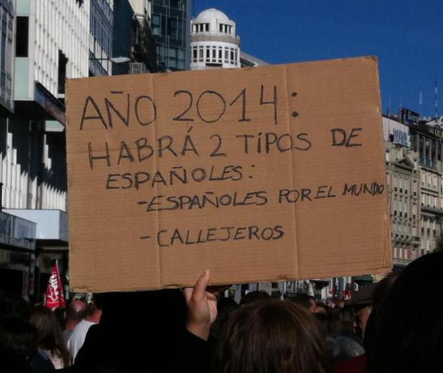 Año 2014: Habrá dos tipos de españoles
