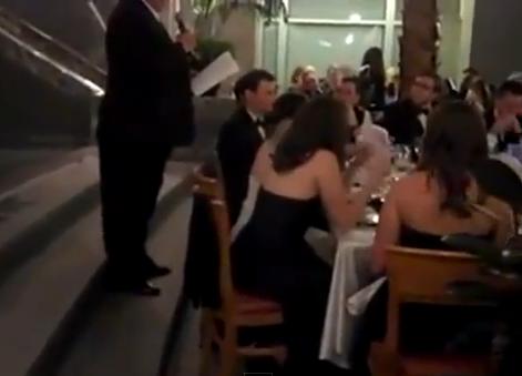 Inesperada sorpresa en su discurso de boda