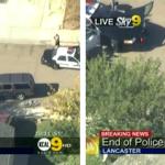 La policía de Los Ángeles mata a tiros a un ladrón de bancos en directo