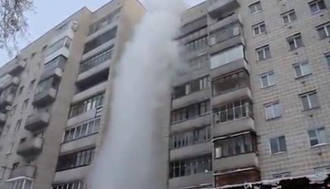 ¿Qué ocurre cuando tiras agua hirviendo desde un edificio cuando hay -41º de temperatura?