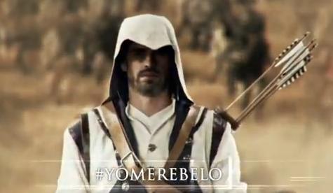 Sergio Ramos y Gerard Piqué se transforman en Connor de Assassin's Creed 3