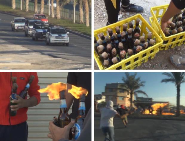 Emboscada con cócteles molotov a un convoy policial en Bahrein