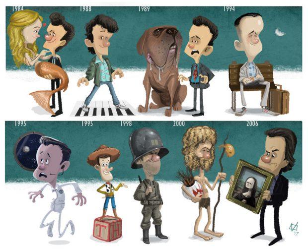Evoluciones: Tom Hanks (por Jeff Victor)
