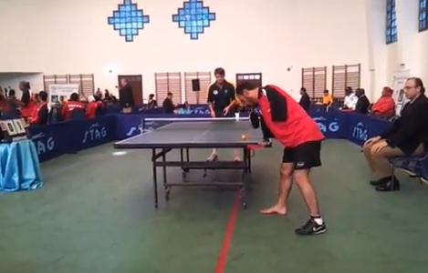 Ibrahim Elhoseny, el jugador de ping pong sin brazos