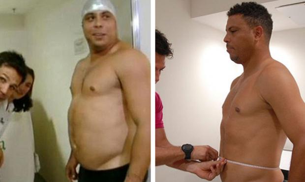 Ronaldo adelgaza 17 kg en un programa de televisión