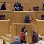 Los senadores del PP despiden el último pleno del año cantando un villancico