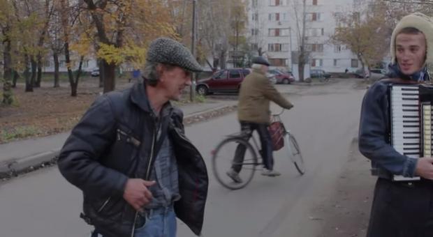 Teletransportanción de un anciano en bicicleta