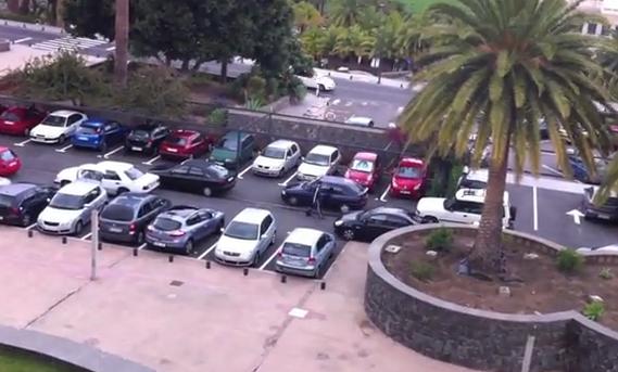 Tetris en el parking de la Universidad