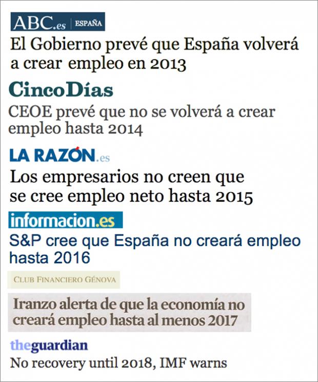 Los expertos coinciden: España creará empleo un año de estos...