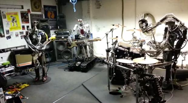 Compressorhead, la primera banda de metal formada por robots