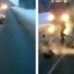 Una niña de 1 año sale despedida del coche en un accidente en Rusia