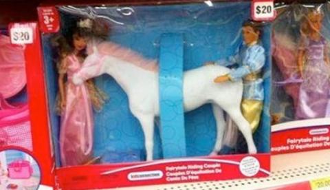 Barbie, Ken y su caballo