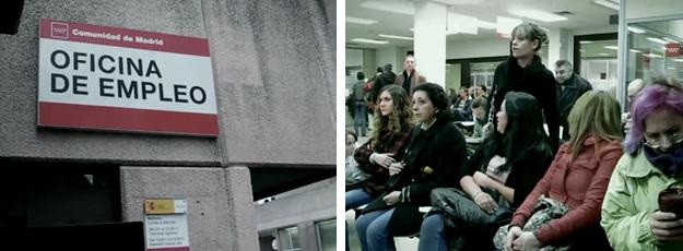 Flashmob en una oficina del paro for Oficina del paro murcia