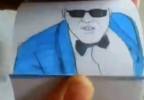 Impresionante flipbook del Gangnam Style de PSY