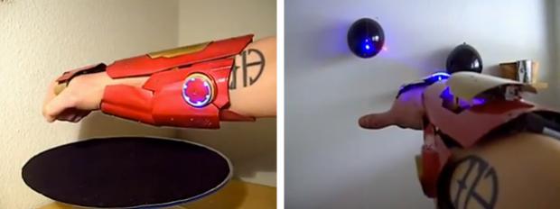 Impresionante guante láser casero como el de Iron Man