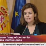 Soraya Sáenz de Santamaría se pone sentimental