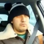 Un conductor ruso ni se inmuta ante la caída del meteorito