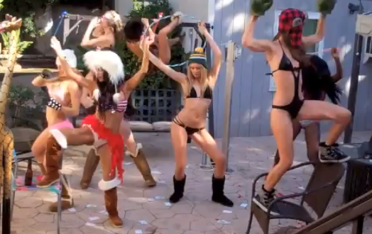 Harlem Shake, versión chicas en bikini