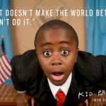 Robbie, 'el niño presidente': Es deber de todos el dar al mundo una razón para bailar