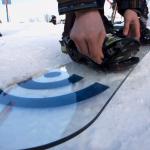 La primera tabla de snowboard construída de frágil cristal italiano