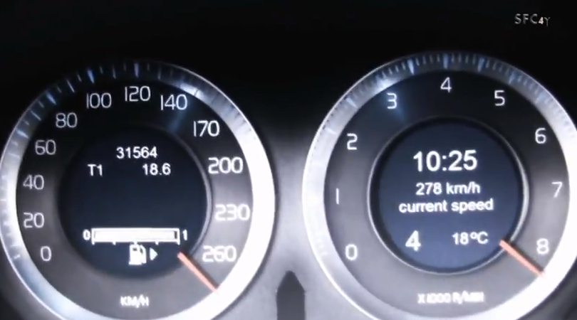 Aceleración de un Volvo S60: de 100 a 383 km/h