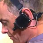 Un partido de rugby visto desde la cámara instalada en la cabeza del árbitro