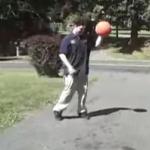 Pelota de baloncesto demasiado hinchada