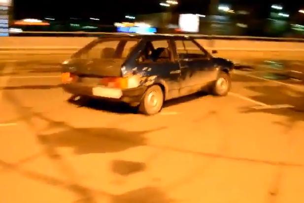 Drifting en Rusia después de unos tragos de vodka