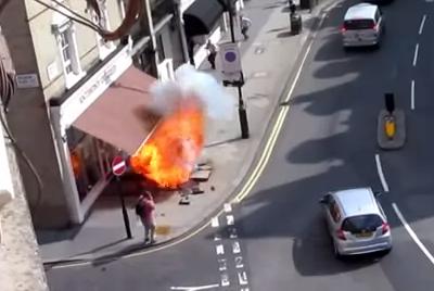 Explosión de una tubería de gas en Londres