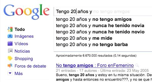 Tu vida según Google