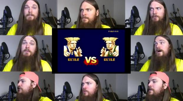 El tema de Guile de Street Fighter 2 acapella