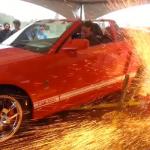 Ford Mustang Shelby GT500 destruye el banco de pruebas de velocidad