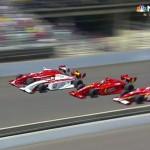 Final de infarto en la Indy Lights de Indianápolis, 4 coches pasando por meta a la vez