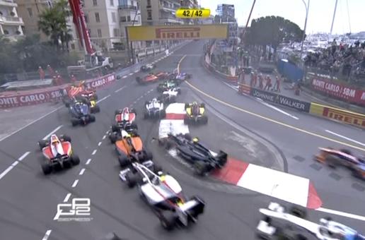 Accidente múltiple en la salida de la carrera de GP2 en Mónaco