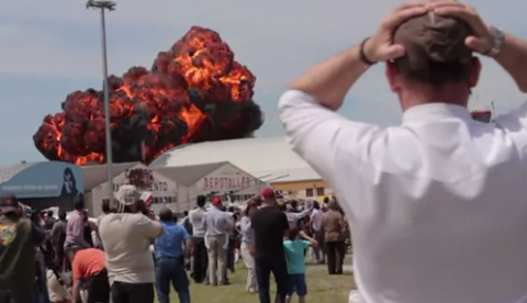 Un avión se estrella en el aeródromo de Cuatro Vientos. Vídeo del accidente