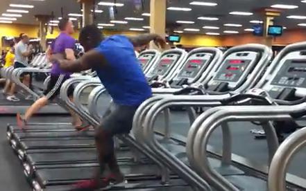 Bailando salsa en la cinta de correr