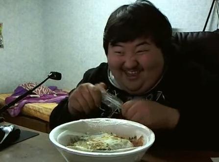 Coreano loco por la comida